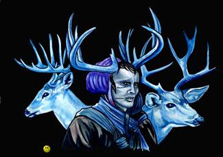 The Blue Hag, illustrated by Joe Doe